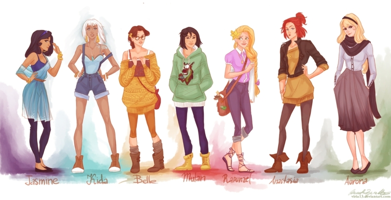 hipster disney princesses2